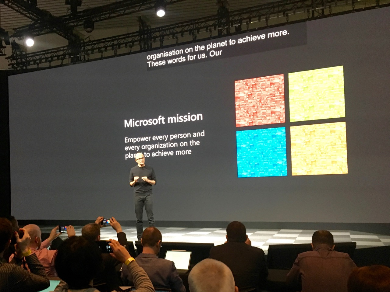 microsoft ceo satya nadella introduces hololens 2
