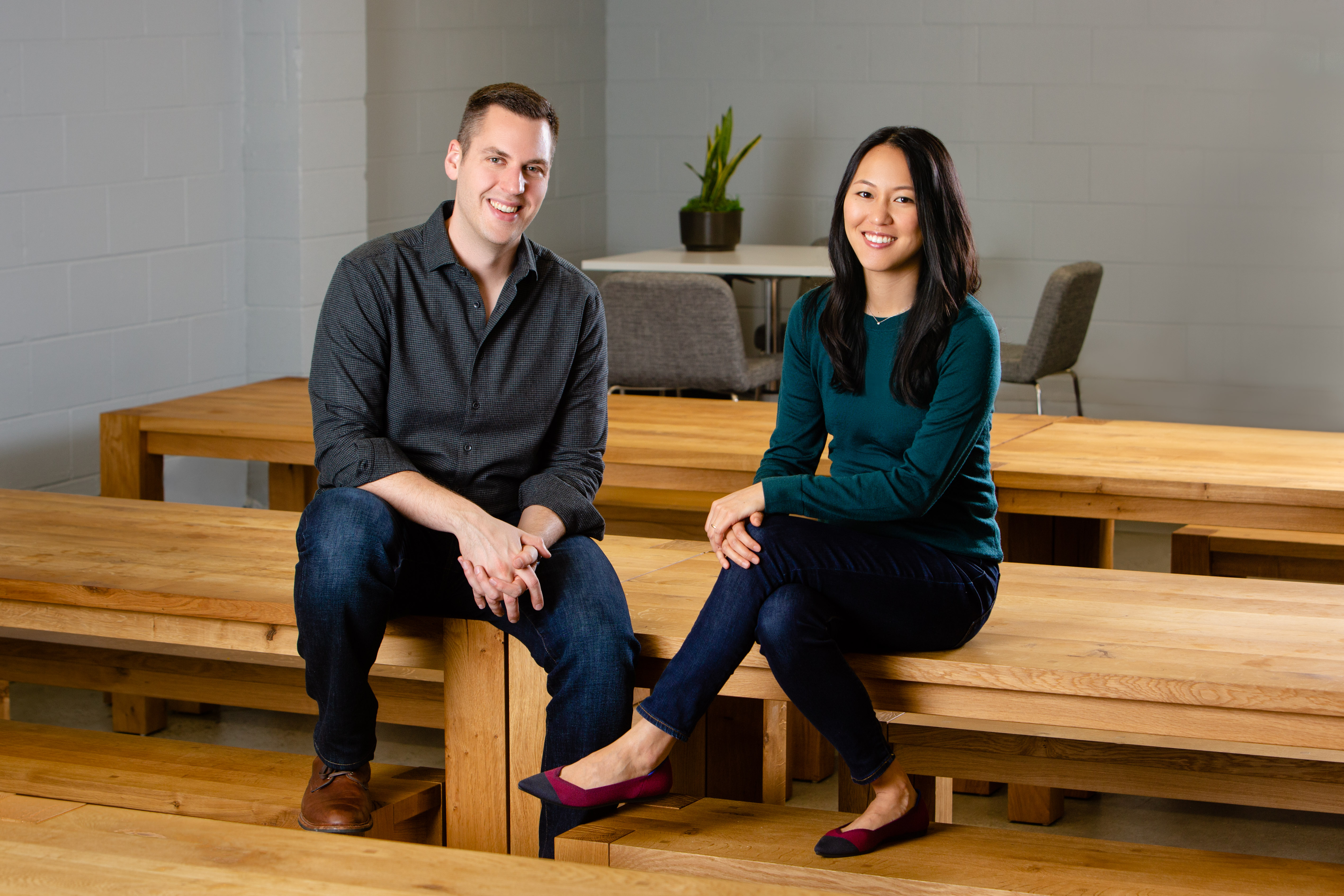 Second Measure co-founders CEO Michael Babineau and COO Lillian Chou. The data aggregation tool won $20 million Tuesday from Bessemer Ventures, Goldman Sachs, and Citi Ventures.