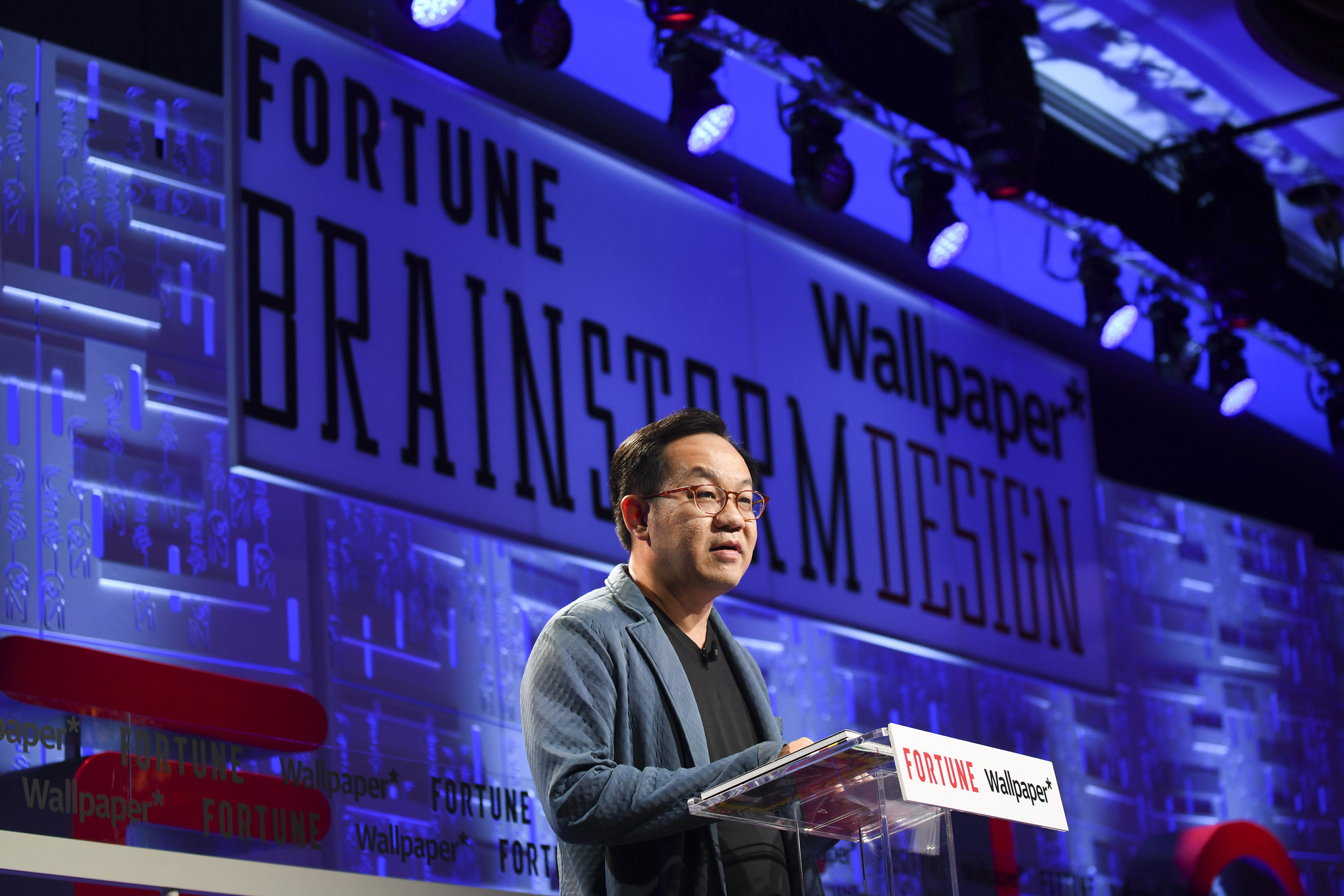 Mark Wee, executive director of the DesignSingapore Council, speaking at the 2019 Fortune Brainstorm Design conference in Singapore.
