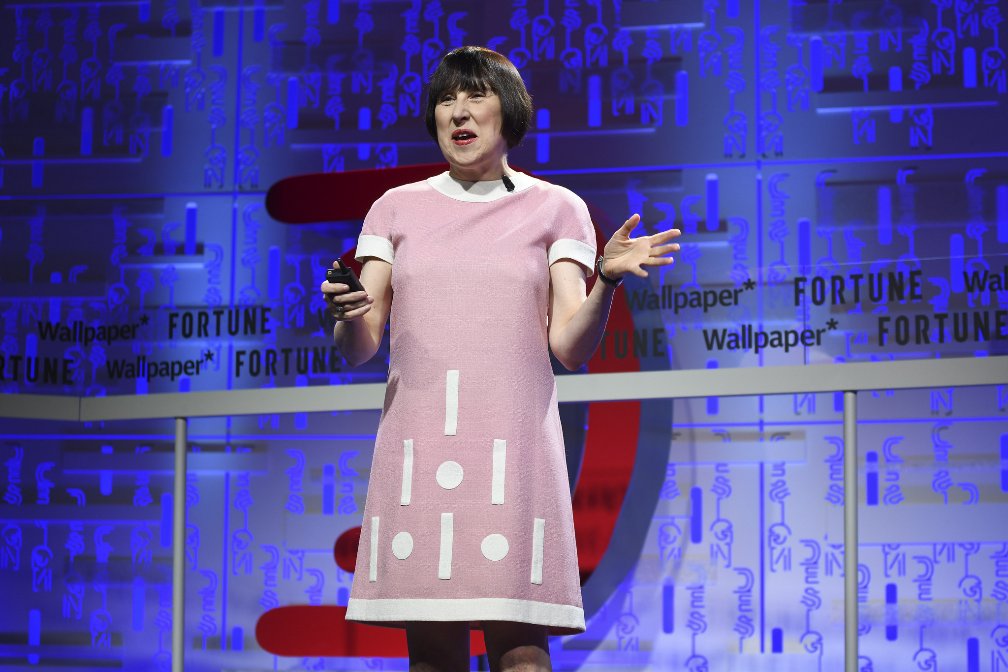 'Design as an Attitude' author Alice Rawsthorn speaking at the 2019 Fortune Brainstorm Design conference in Singapore.