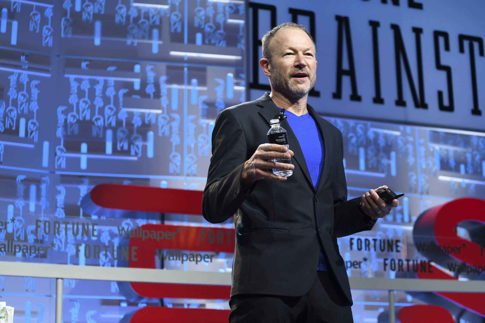 Invisible Design principal Harry West speaking at the 2019 Fortune Brainstorm Design conference in Singapore.