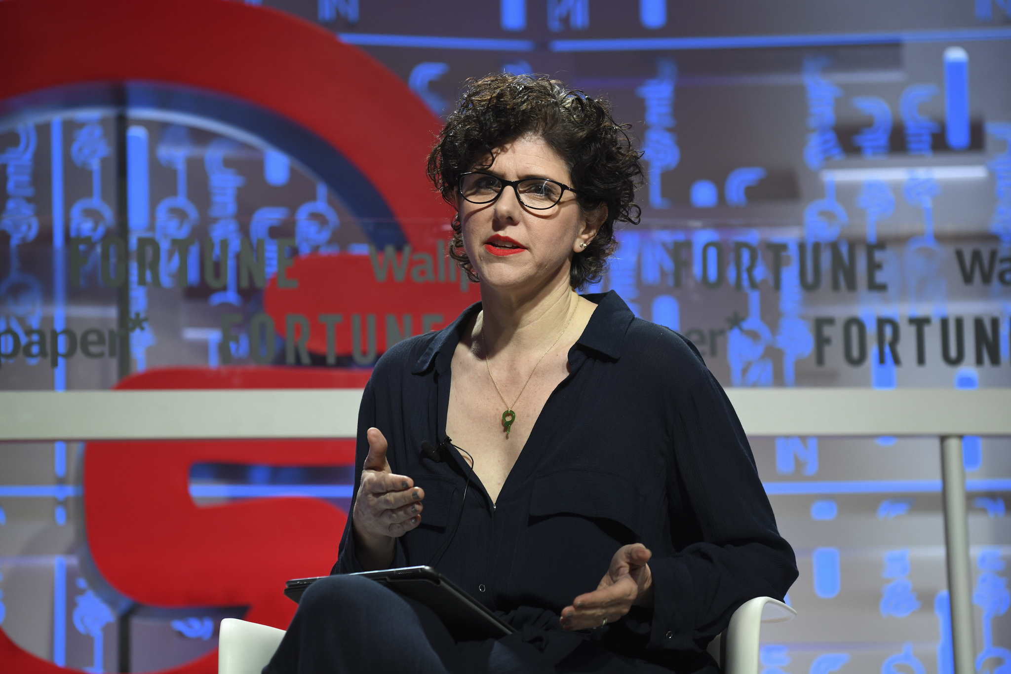 Margaret Gould Stewart, vice president of product design at Facebook, speaking at the 2019 Fortune Brainstorm Design conference in Singapore.