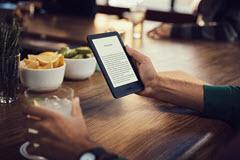 Amazon's latest Kindle version has a front light.