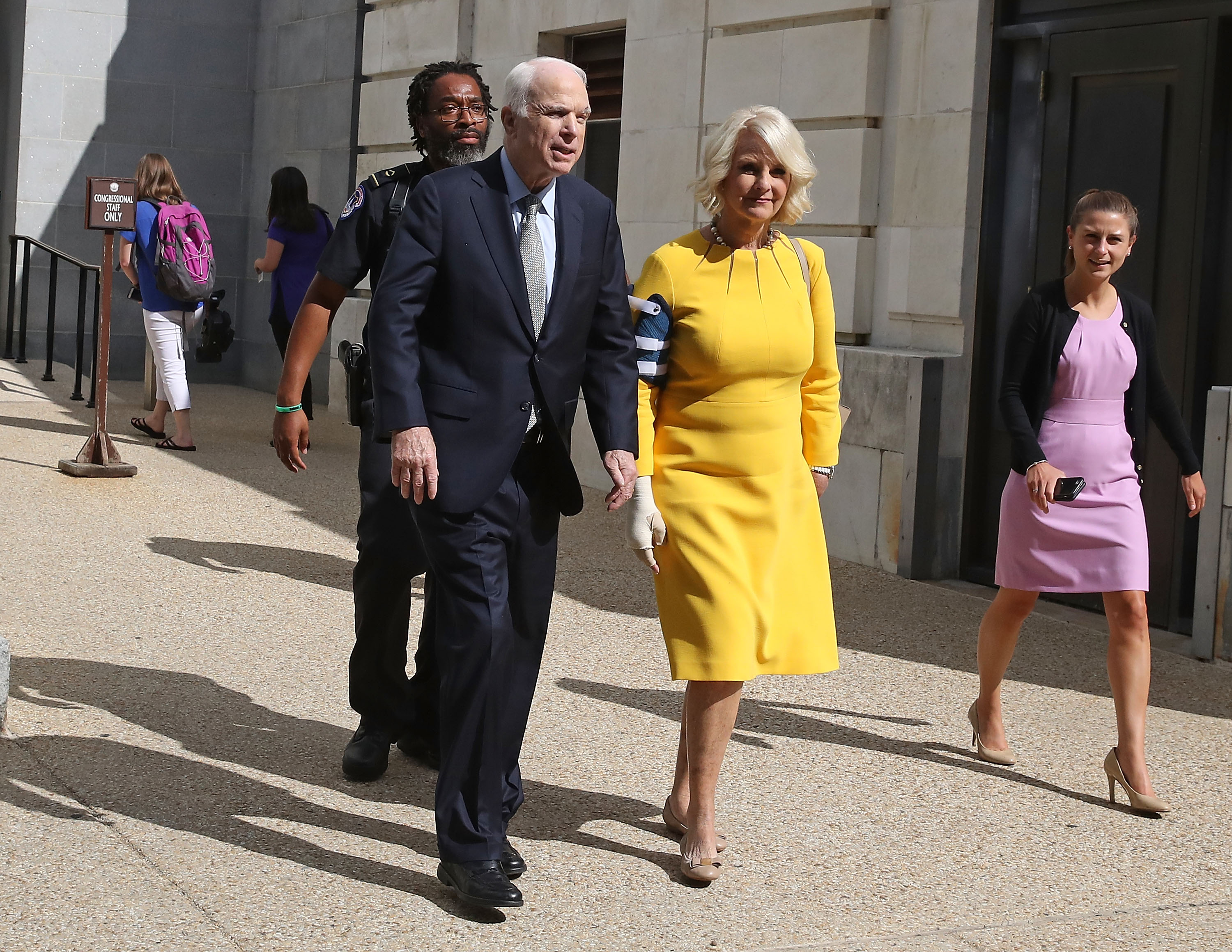 Sen. John McCain (R-AZ) Back On Capitol Hill For Health Care Vote, After Cancer Diagnosis Last Week