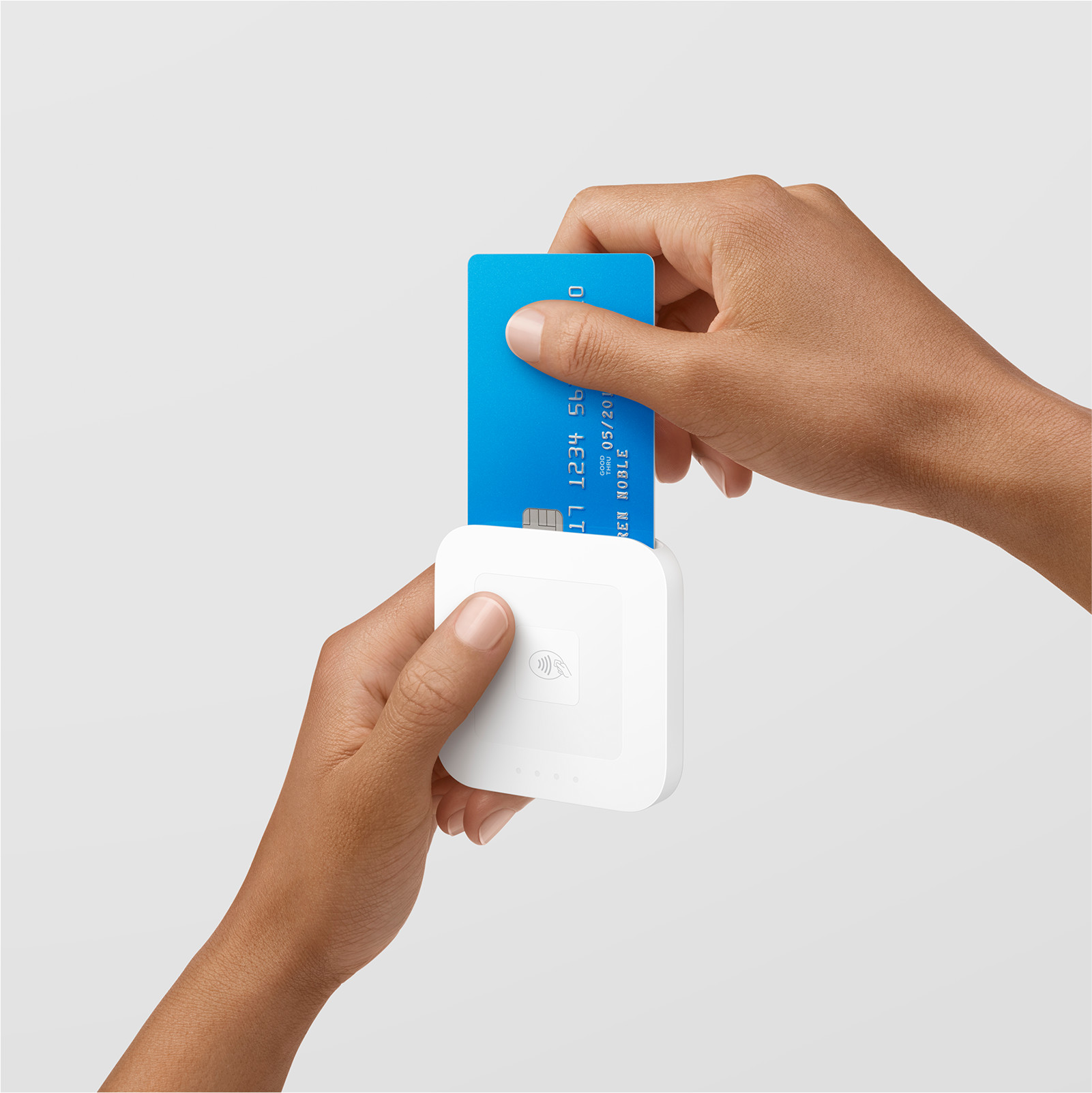 A Square contactless chip reader