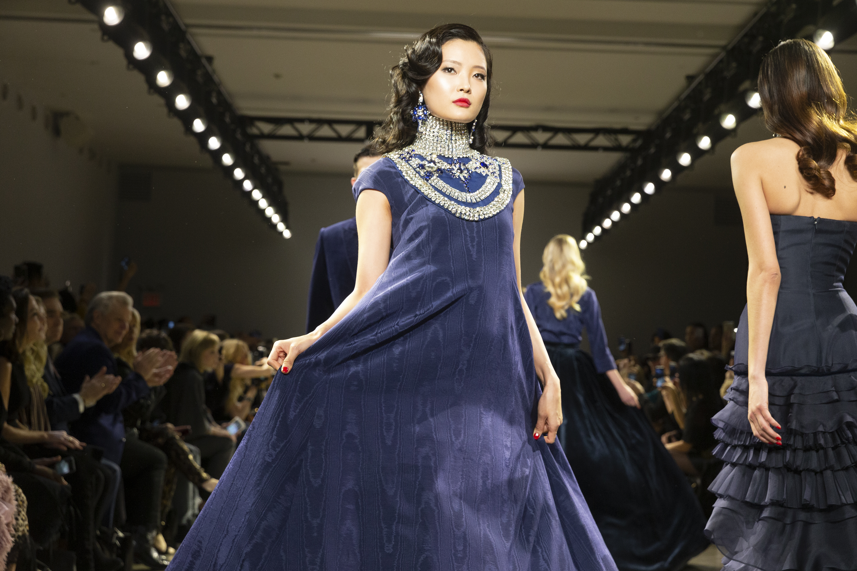 Model walks runway for Zang Toi Fall/Winter collection