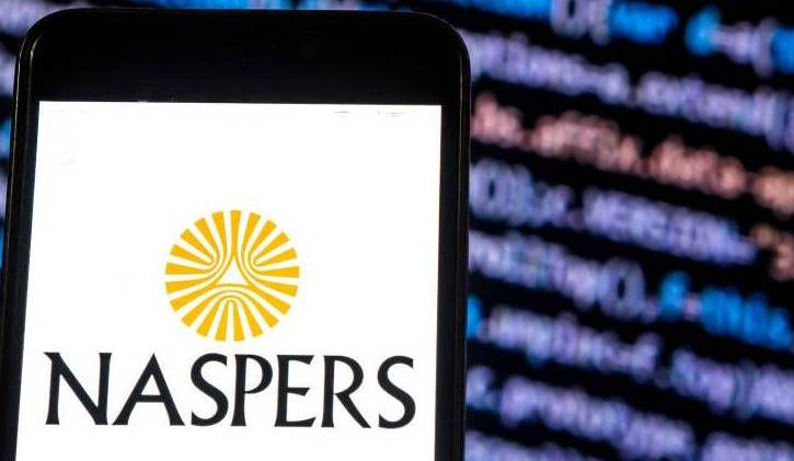 Naspers Media company logo seen displayed on smart phone