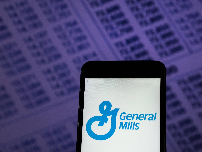 General Mills Food company logo seen displayed on smart