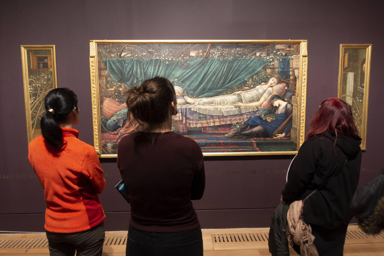 Visitors At Tate Britain In London