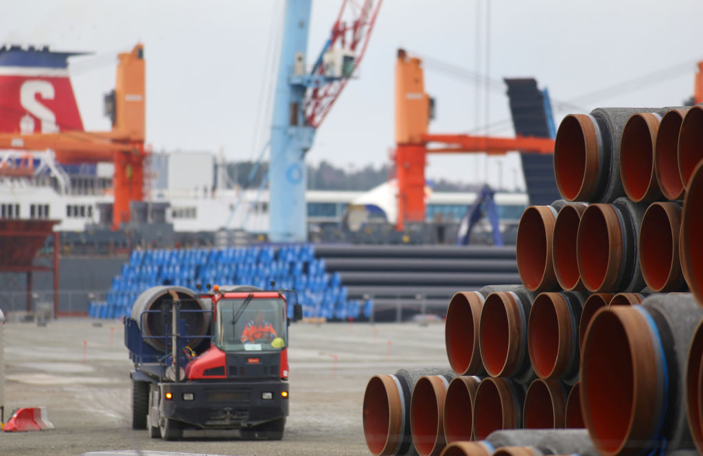 Pipes for the Nord Stream 2 natural gas pipeline