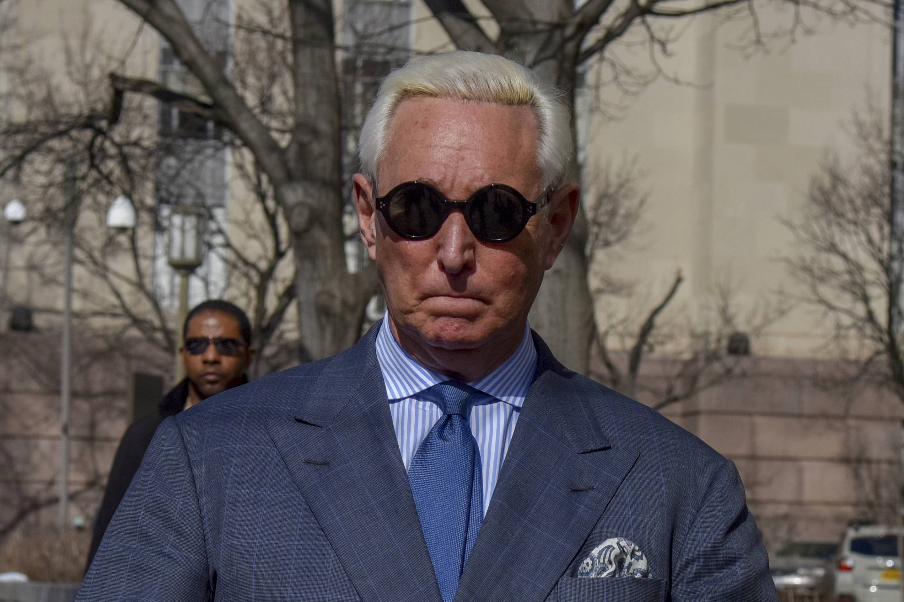 Former Trump Adviser Roger Stone Makes an Appearance for Posting Picture of Judge on Instagram