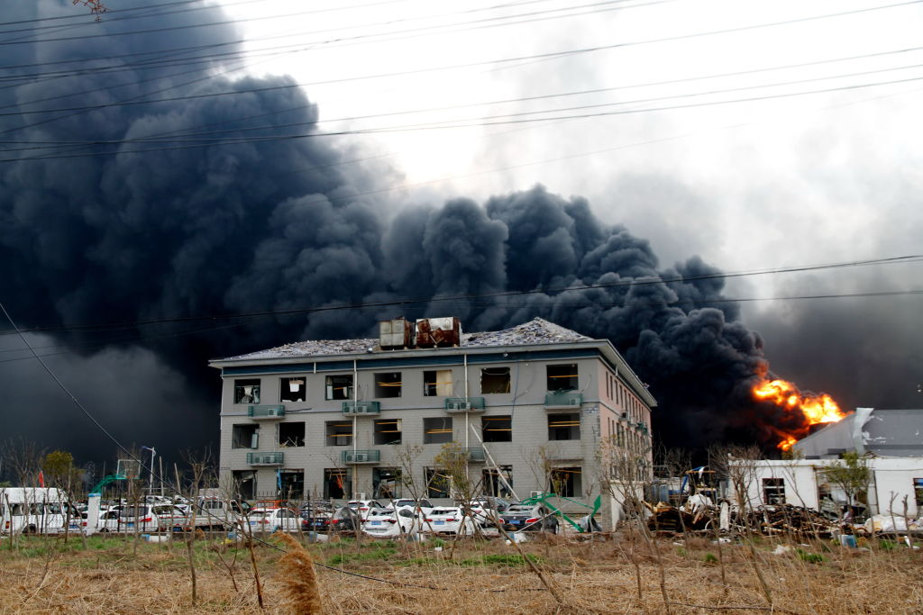 Chemical Plant Pesticide Production Explods In Jiangsu, China