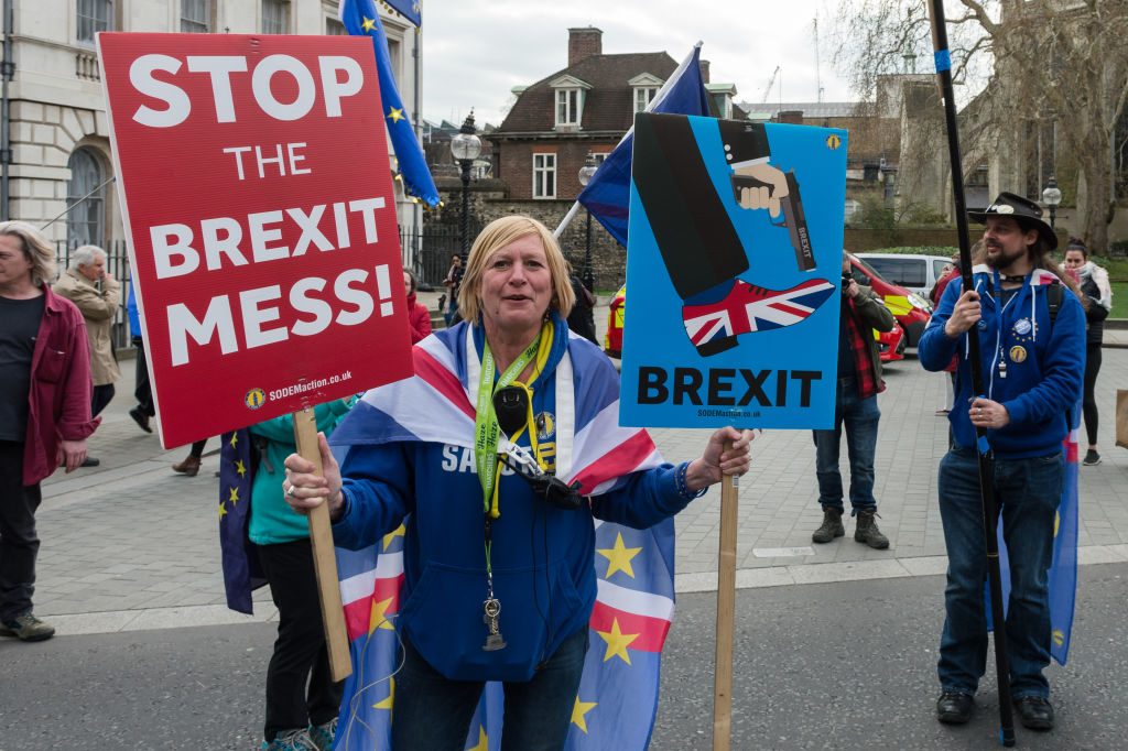 Protest For And Against Brexit In London
