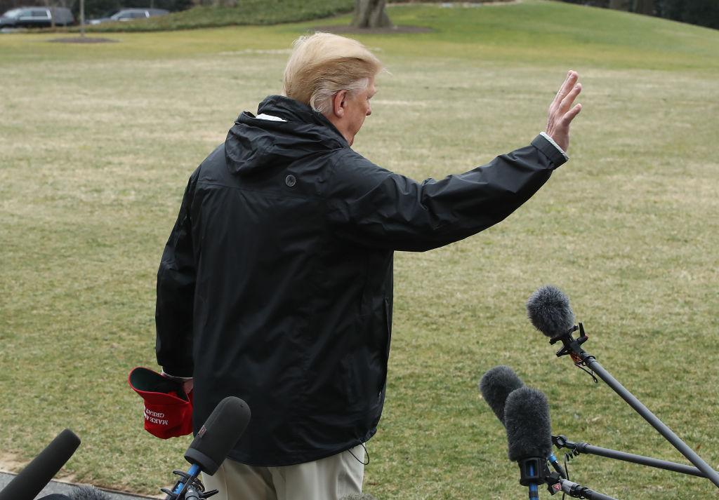 President Donald Trump Departs White House To Survey Alabama Tornado Damage