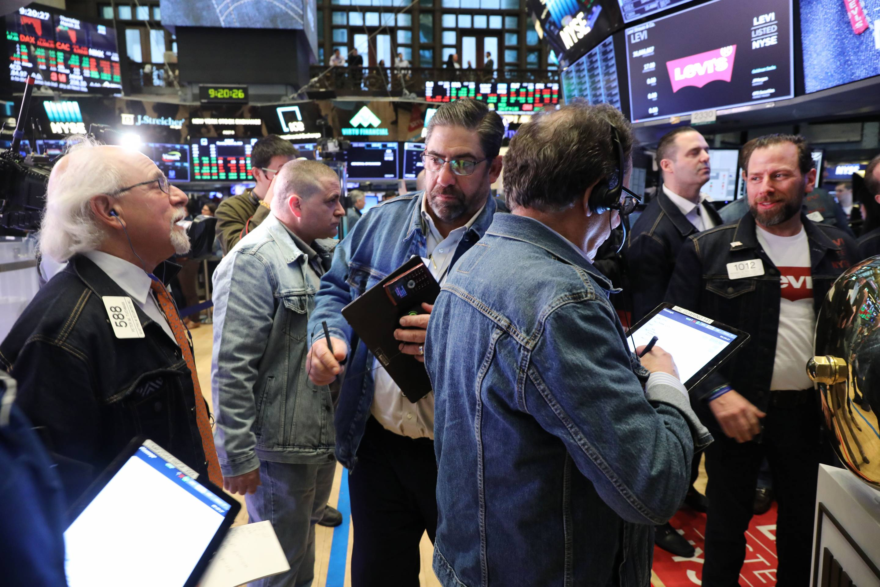 Stock Market Opens On Day Of Levi Strauss IPO