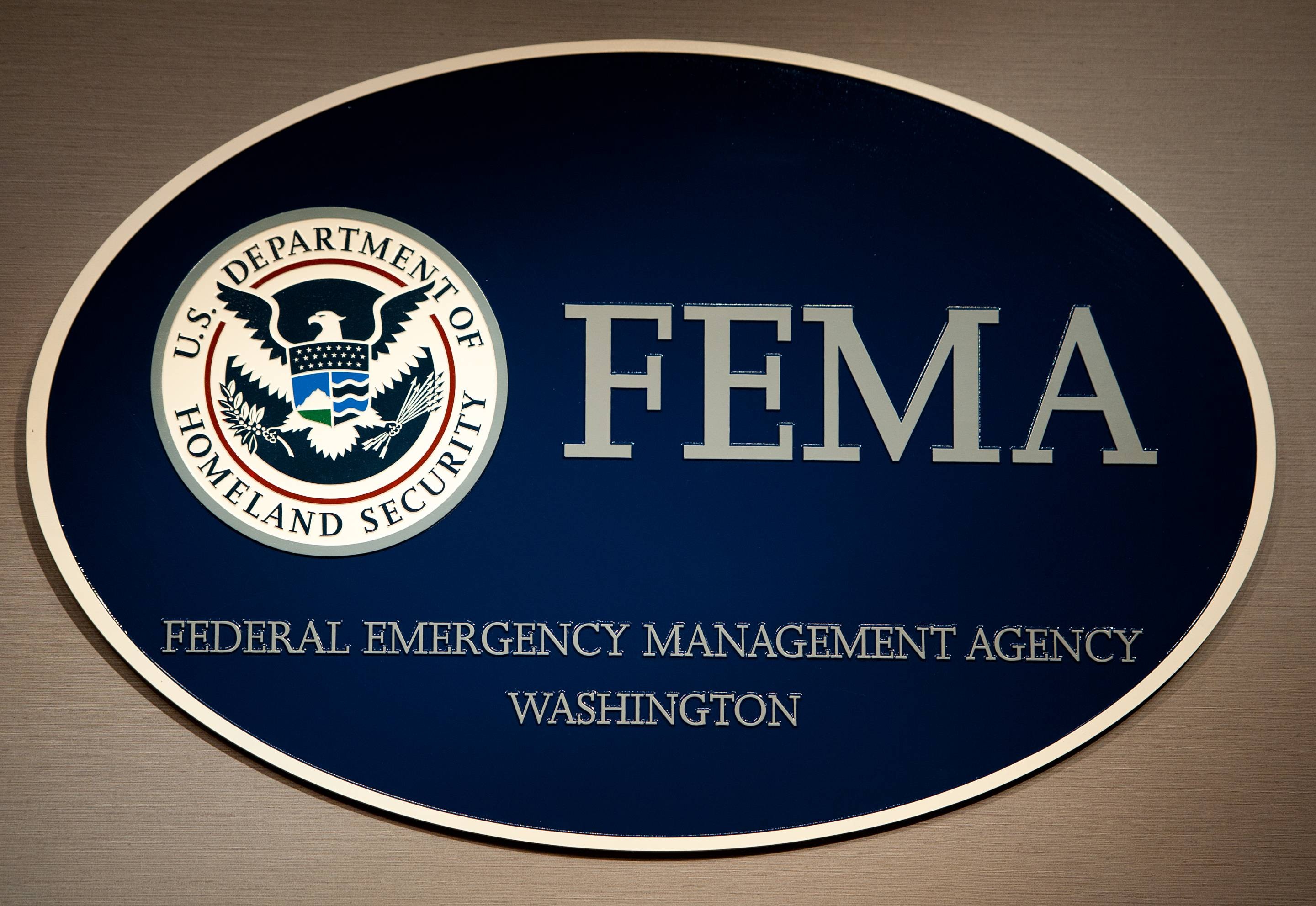 The FEMA logo seen August 26, 2011, shor