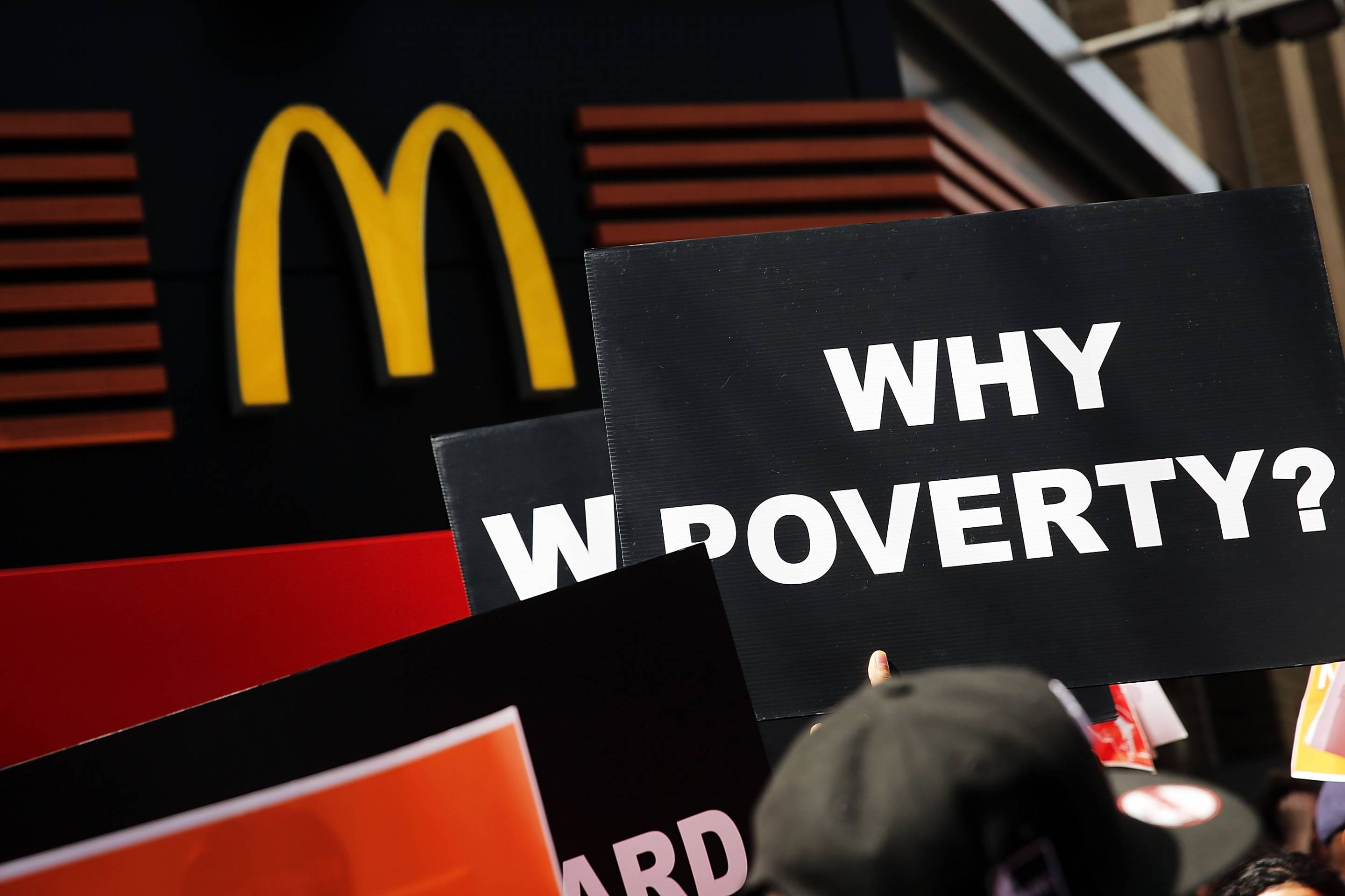 Fast Food Workers Stage Nationwide Protests For Higher Wages