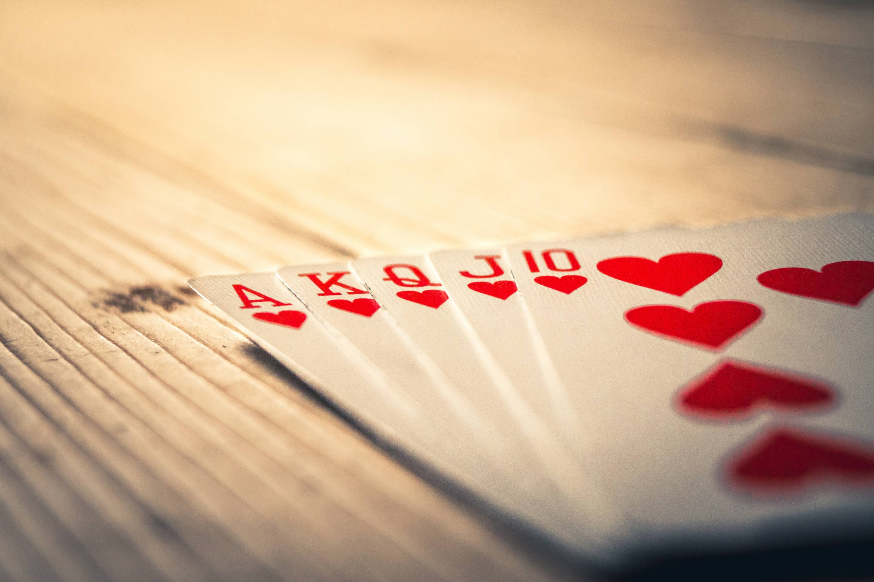 Close-Up Of Cards On Table