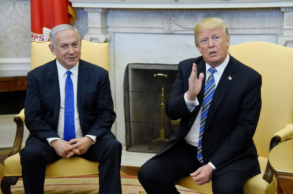 President And Mrs Trump Welcome Israeli PM Netanyahu To White House