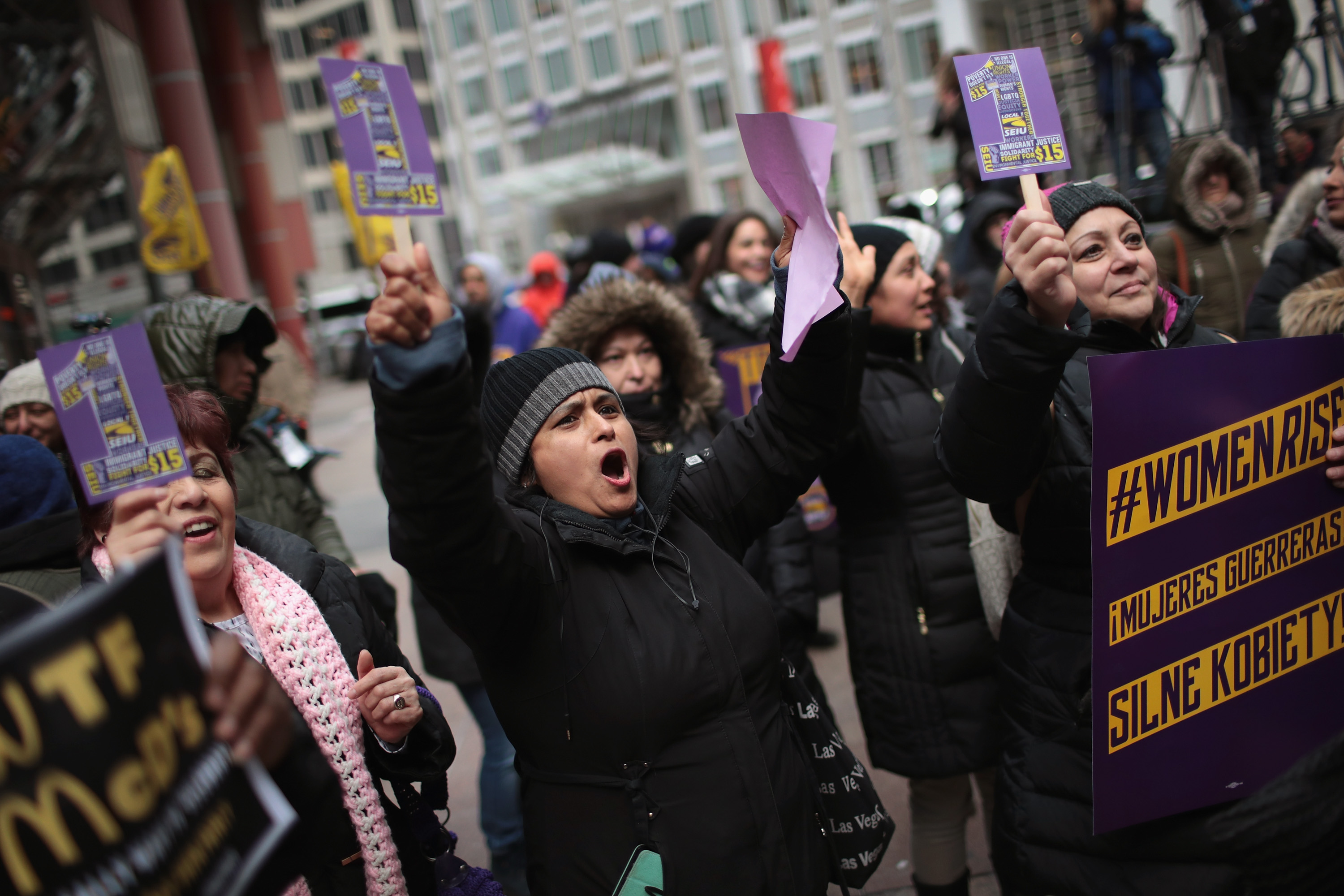 International Women's Day Rally In Chicago