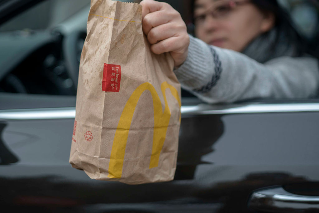 A customer bought food from a McDonald's Drive-Thru