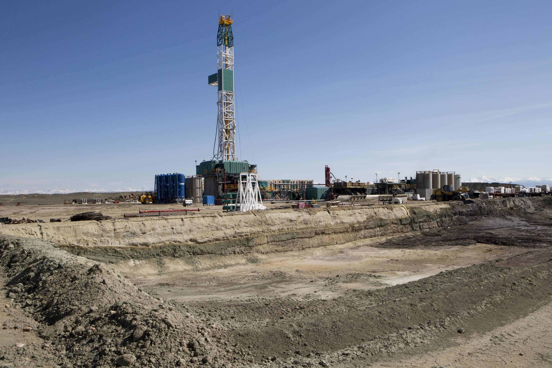 Natural gas fracking in Wyoming