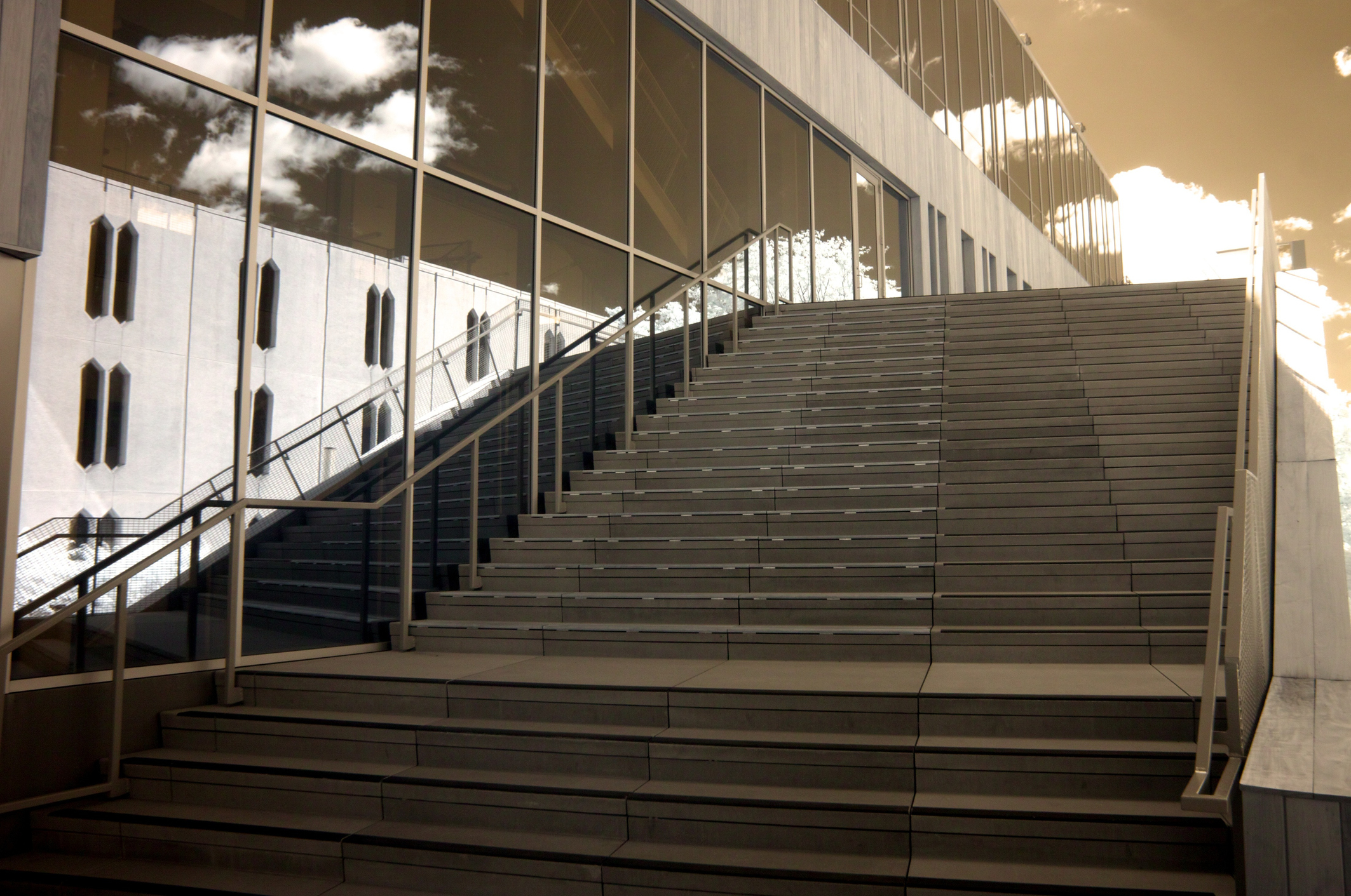 Oberlin College Staircase - infrared