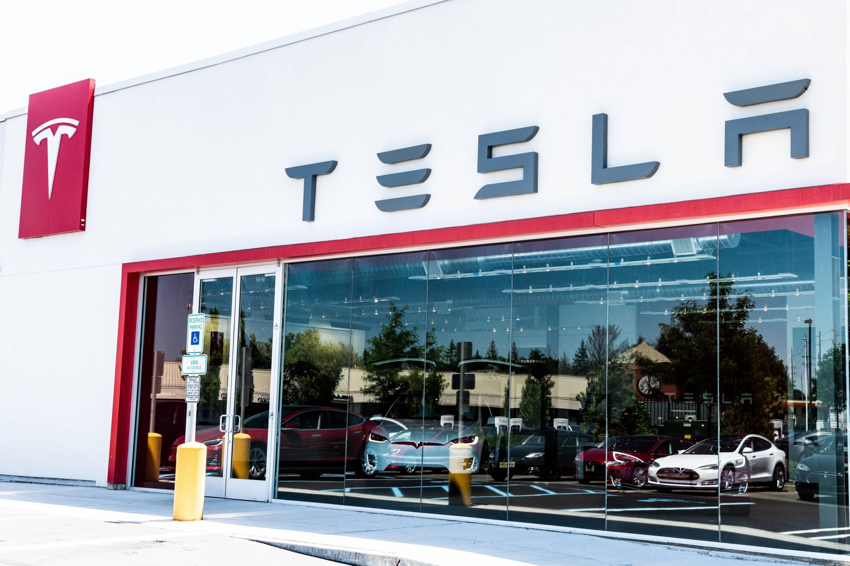 Tesla store in Paramus, New Jersey