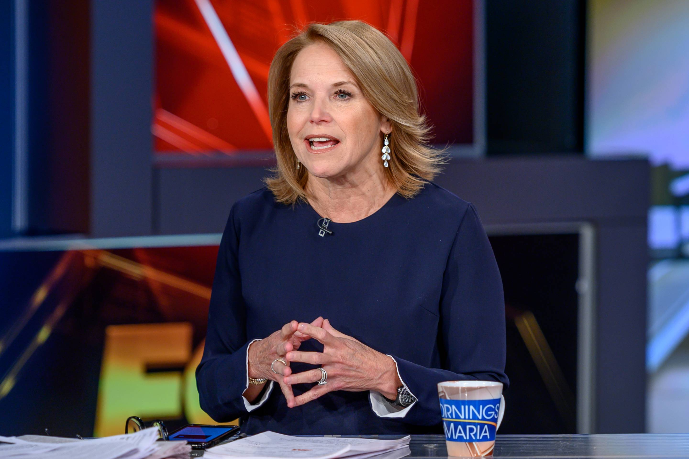 Journalist and author Katie Couric at Fox Business Network studios on March 20, 2019, in New York City.