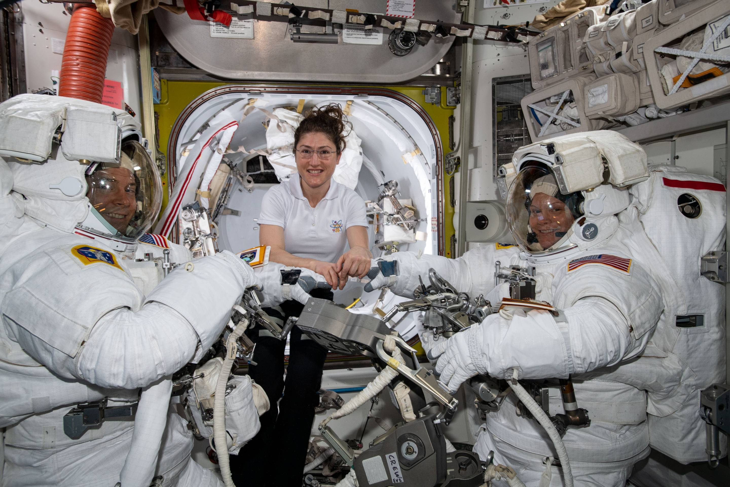 NASA christina koch-nick hague-anne mcclain
