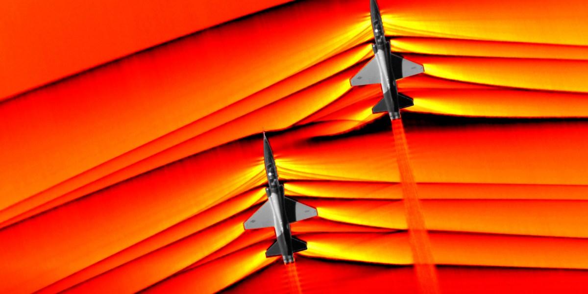 PHOTOS: NASA Captures Shockwaves of Supersonic Aircrafts Using the Schlieren Technique