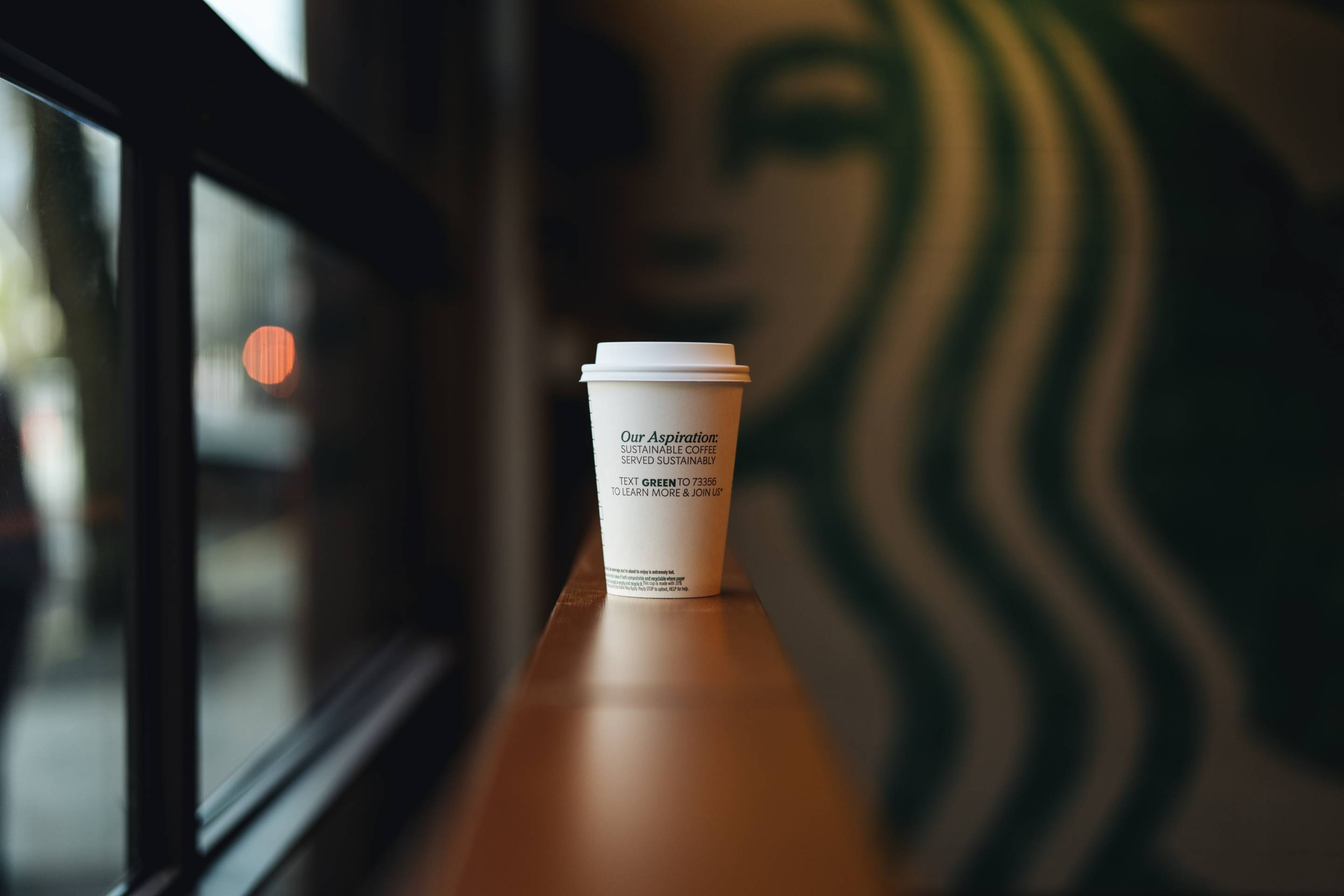 Starbucks Recyclable and Compostable Cups