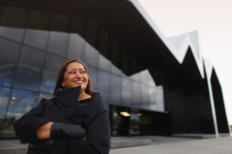 Architect Zaha Hadid Visits Glasgow's Riverside Museum