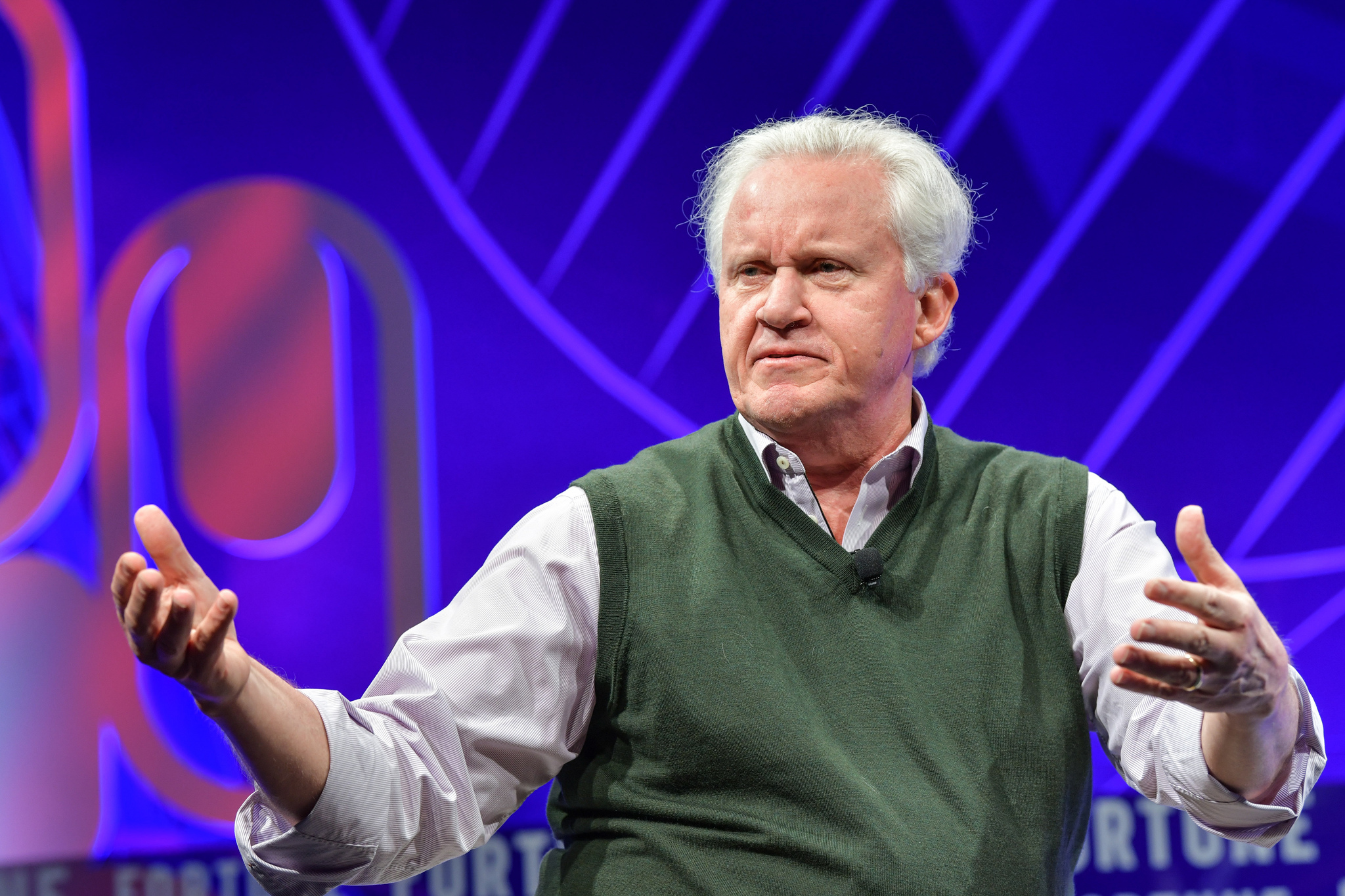 Former GE CEO Jeff Immelt speaking at the 2019 Fortune Brainstorm Health conference in San Diego.