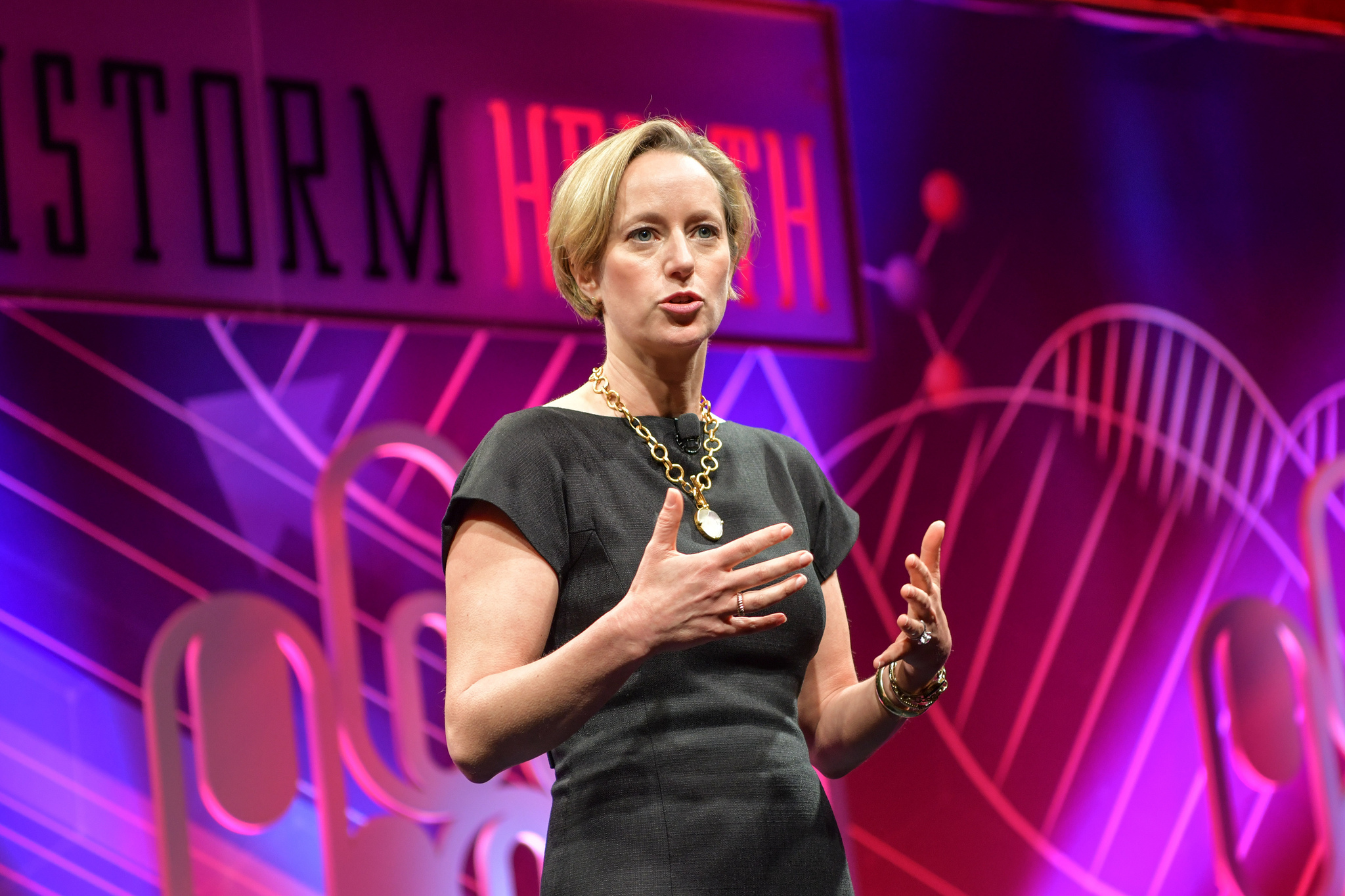 Psychologist and author Lisa Damour speaking at the 2019 Fortune Brainstorm Health conference in San Diego.