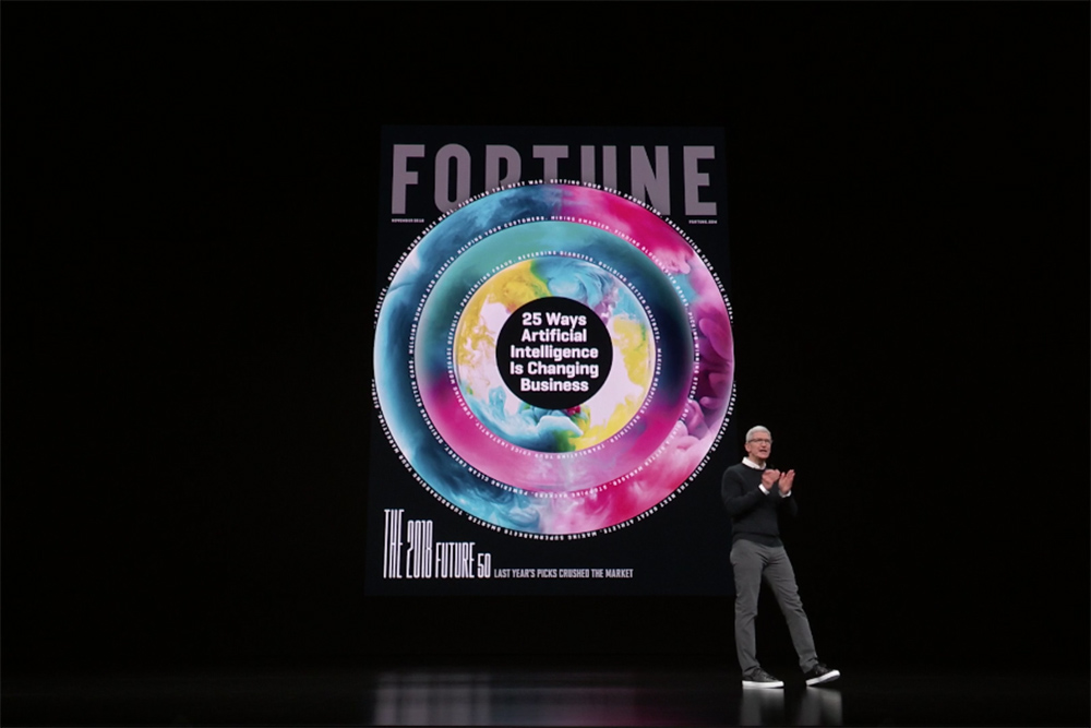 Apple Inc. announced the launch of Apple News Plus, it's new subscription news and magazine service, on March 25 in Cupertino, Calif.