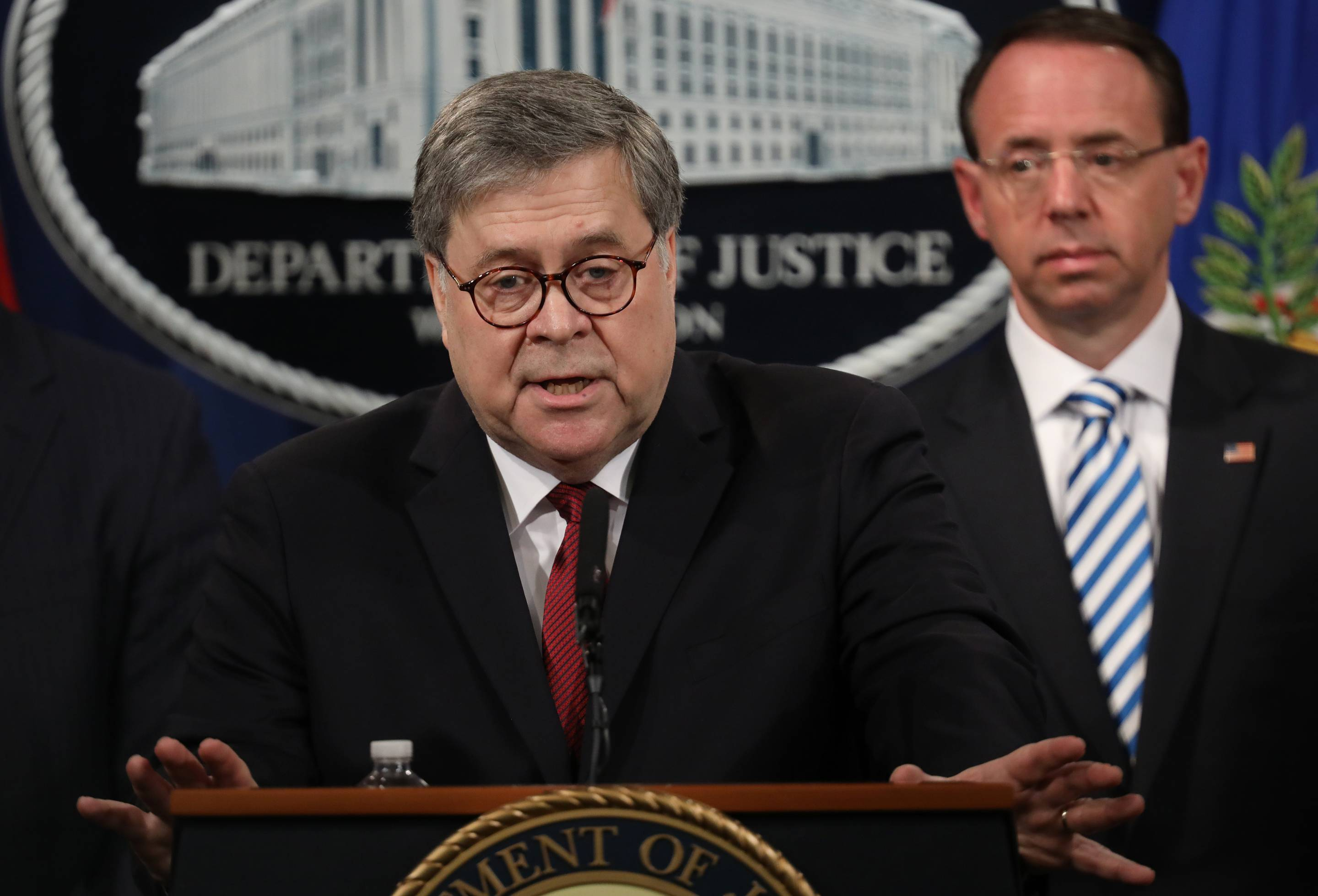 Attorney General William Barr Holds Press Conference To Discuss Release Of Mueller Report