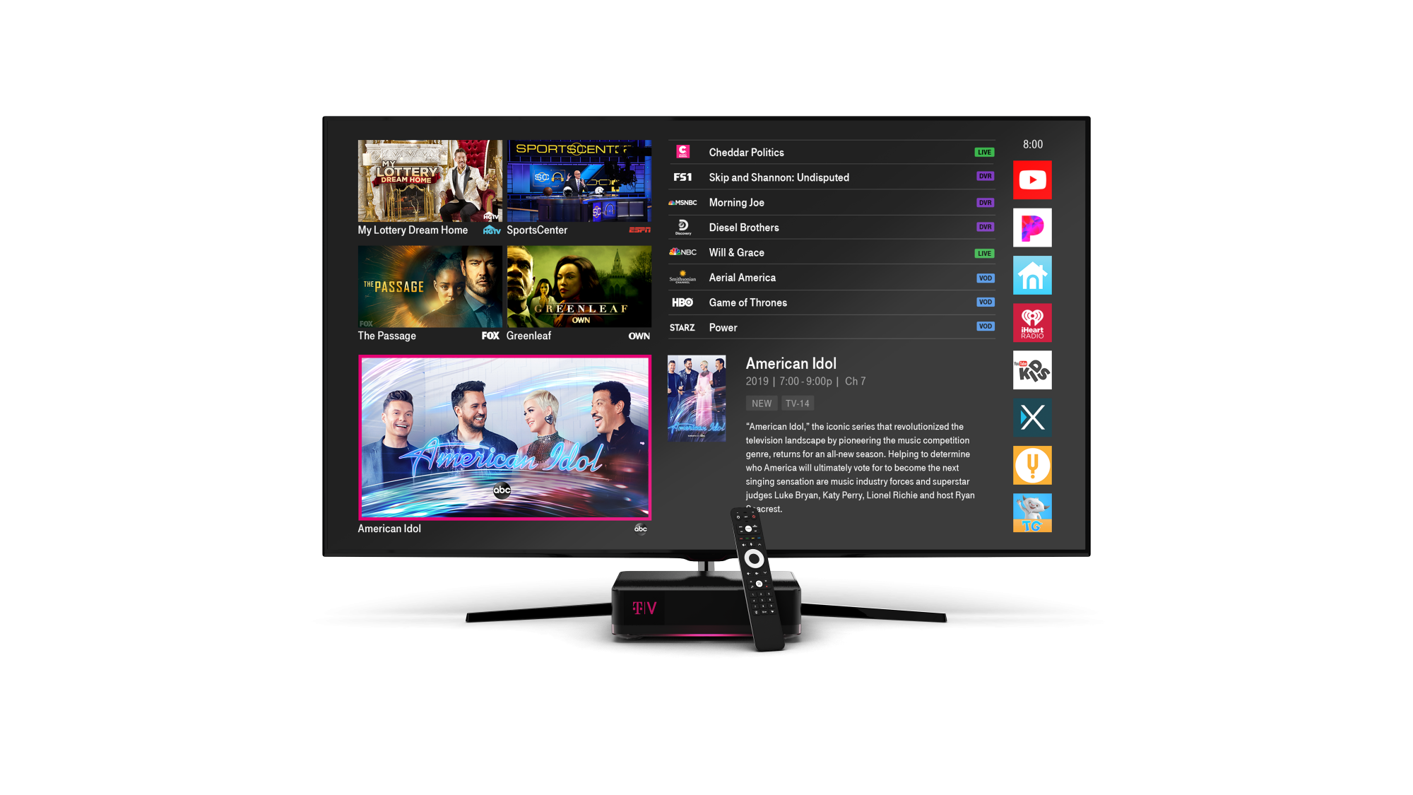 T-Mobile's tvision cable tv competitor
