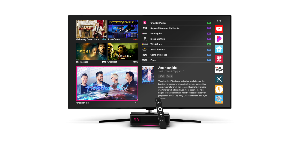 T-Mobile Unveils a 300-Channel TV Service, Saying Its Attack on Big Cable Has Yet to Begin