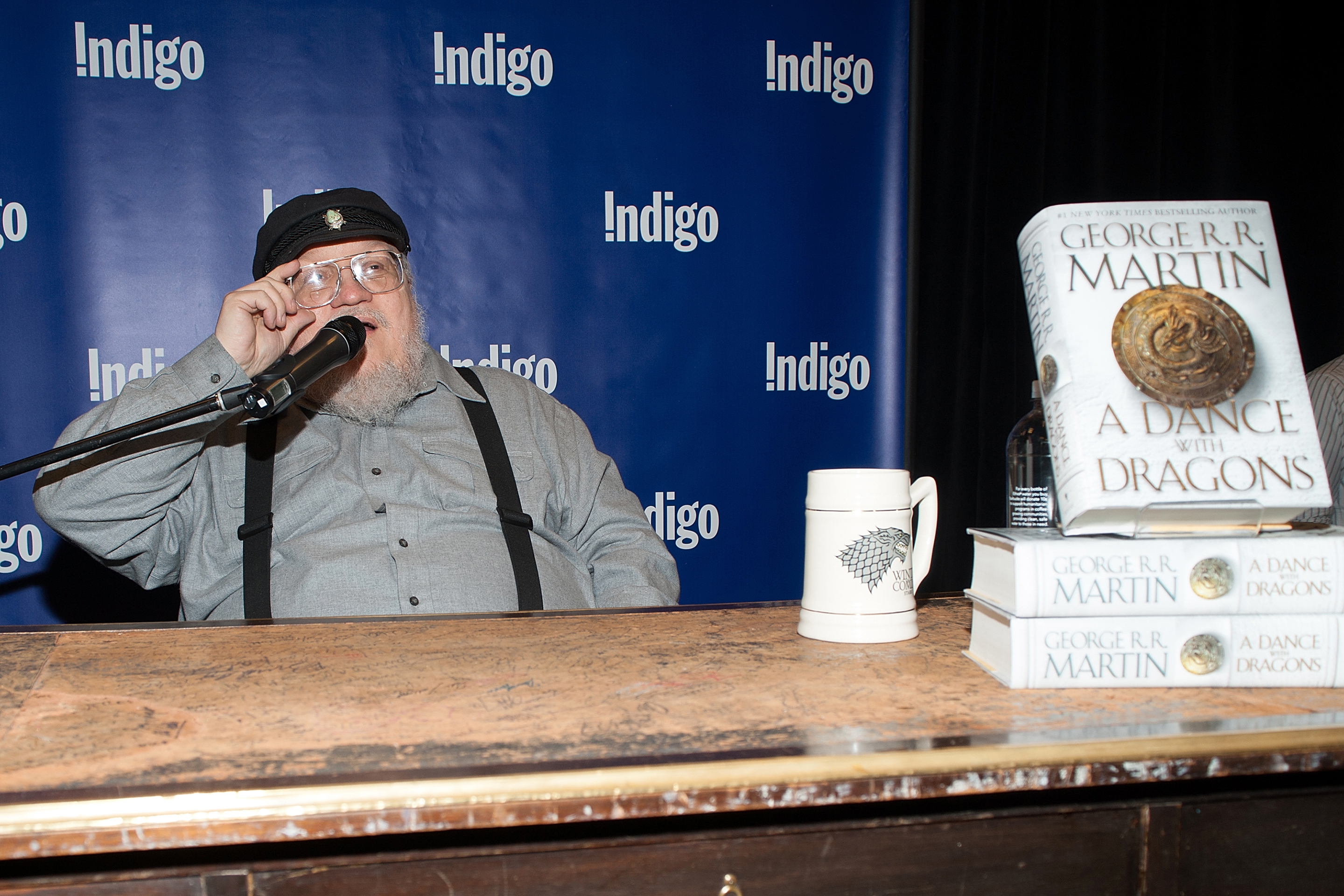 """George R.R. Martin Signs Copies Of His New Book """"A Dance With Dragons"""""""