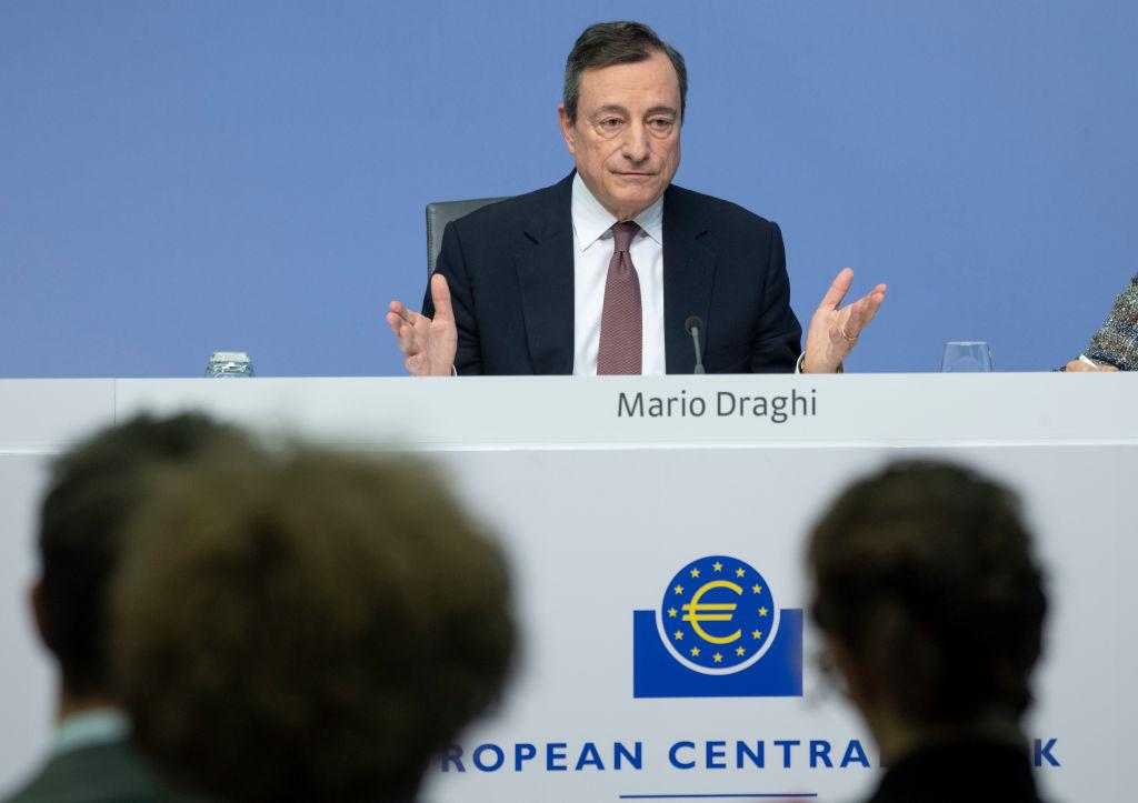 ECB Governing Council Meets As Eurozone Slumps