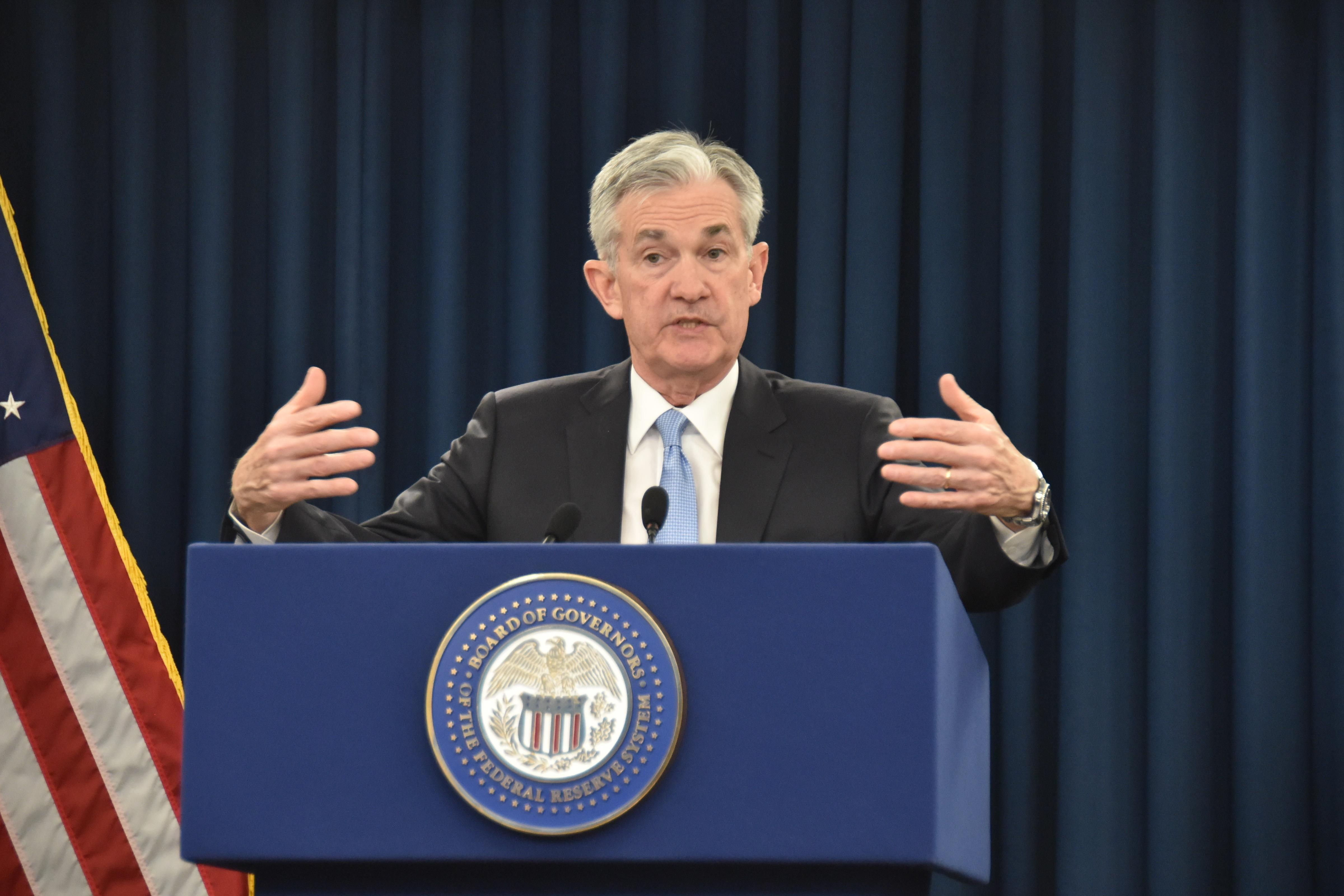 U.S. Federal Reserve Chairman Jerome Powell Holds News Conference