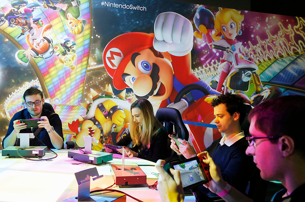 Nintendo Switch Games : Press Preview At Grand Palais in Paris