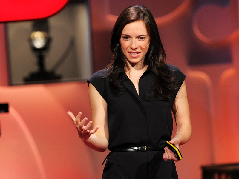 Jessica Jackley speaks at a TED Talks event.