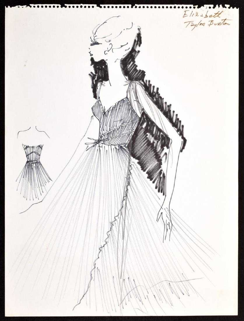 125 Karl Lagerfeld Sketches Including 2 Of Elizabeth Taylor On Auction Fortune