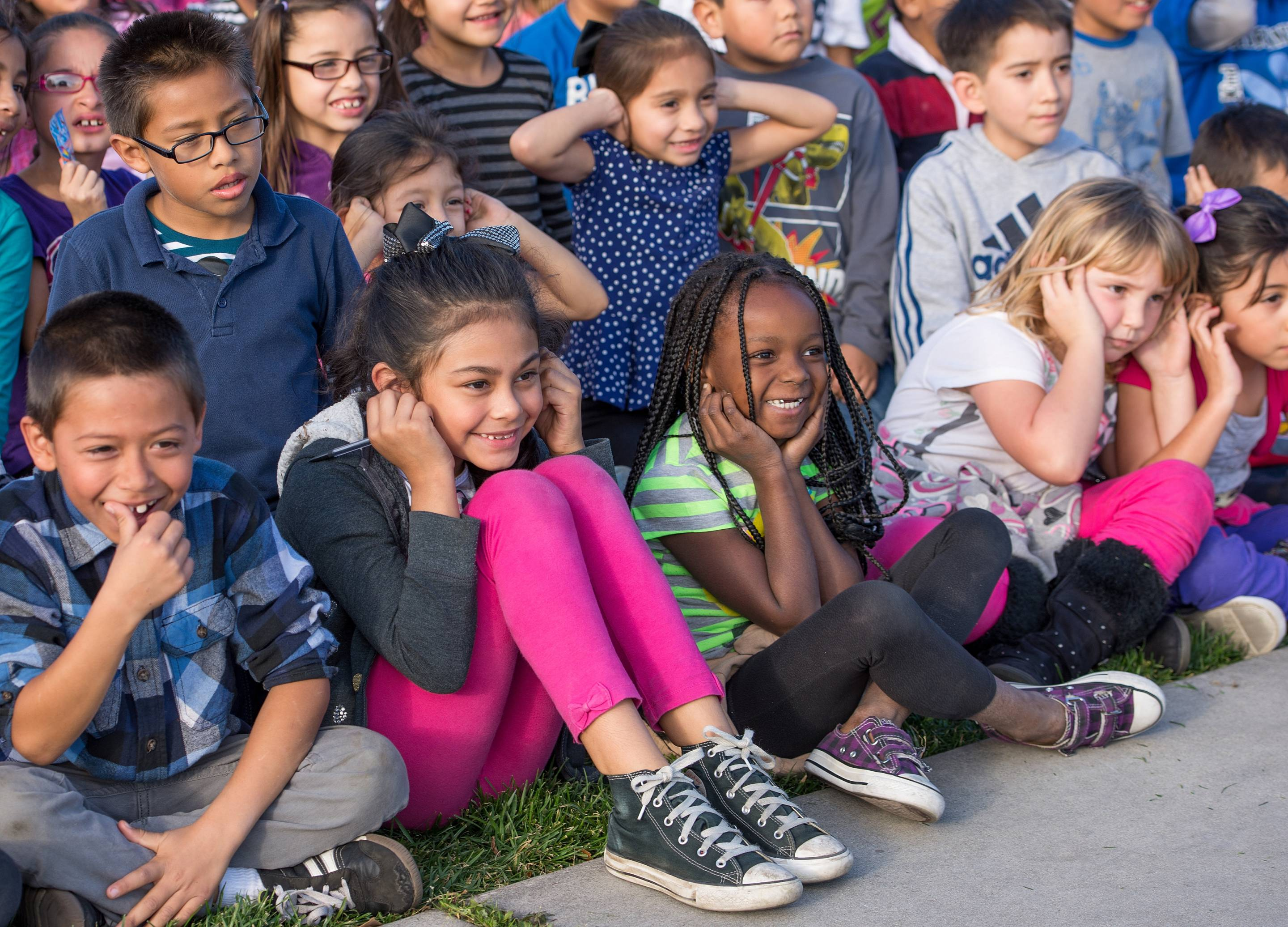 Kids from the Anaheim Achieves after-school program are waiting to receive a real-life lesson in engineering and technology.