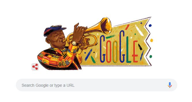 Hugh Masekela Google Doodle