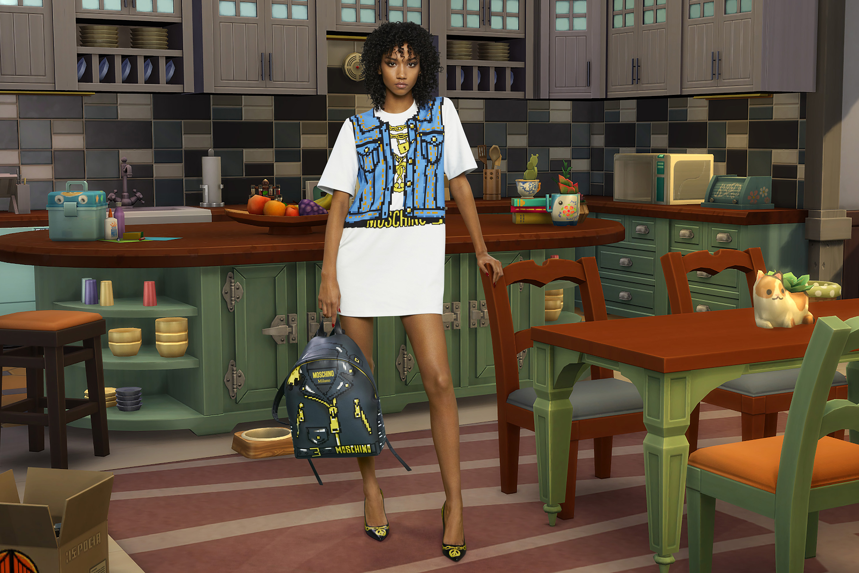 Moschino fashions are now part of the The Sims' storyline.