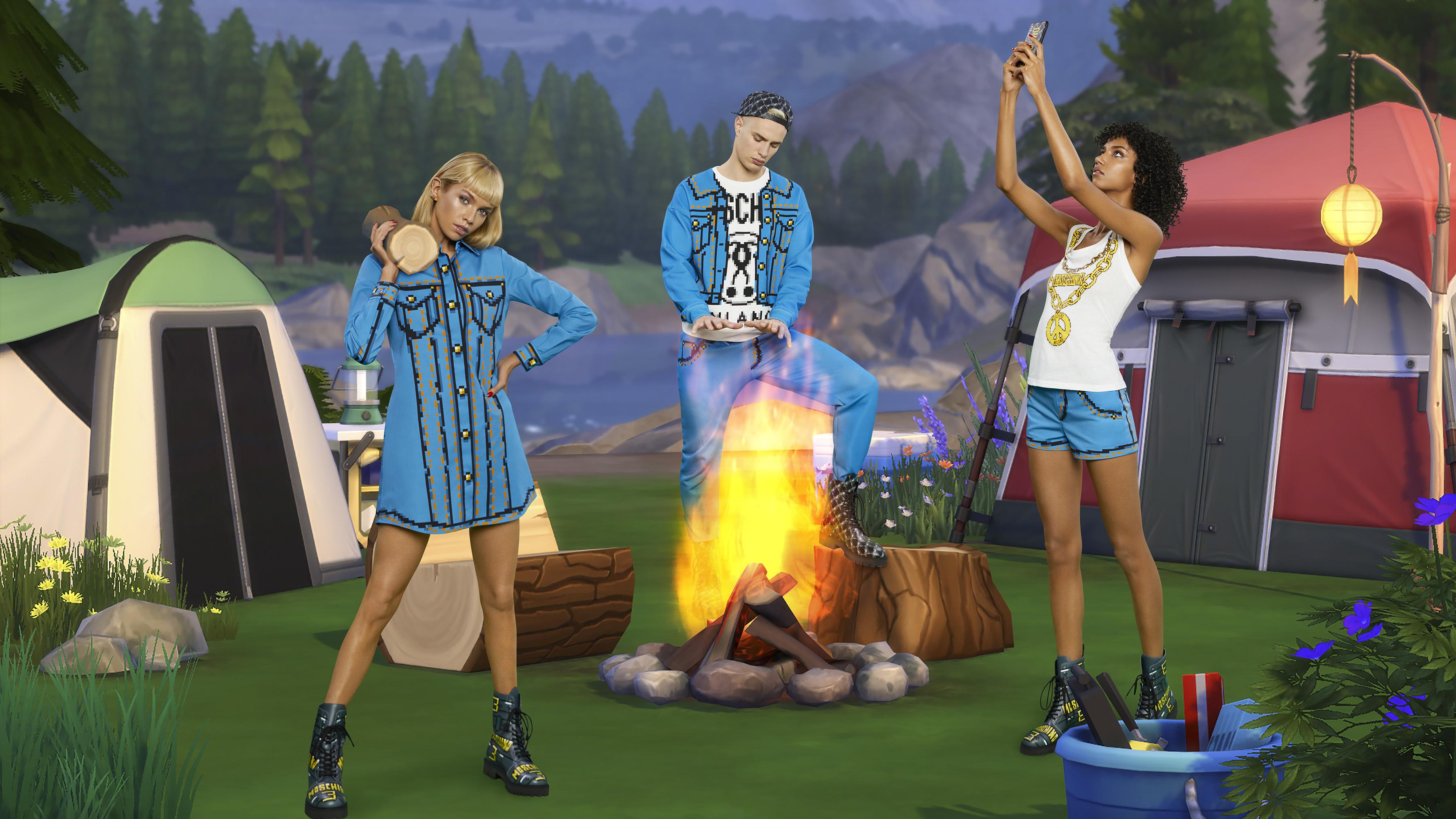 Moschino Sims Collaboration When High Fashion Video Games Unite Fortune