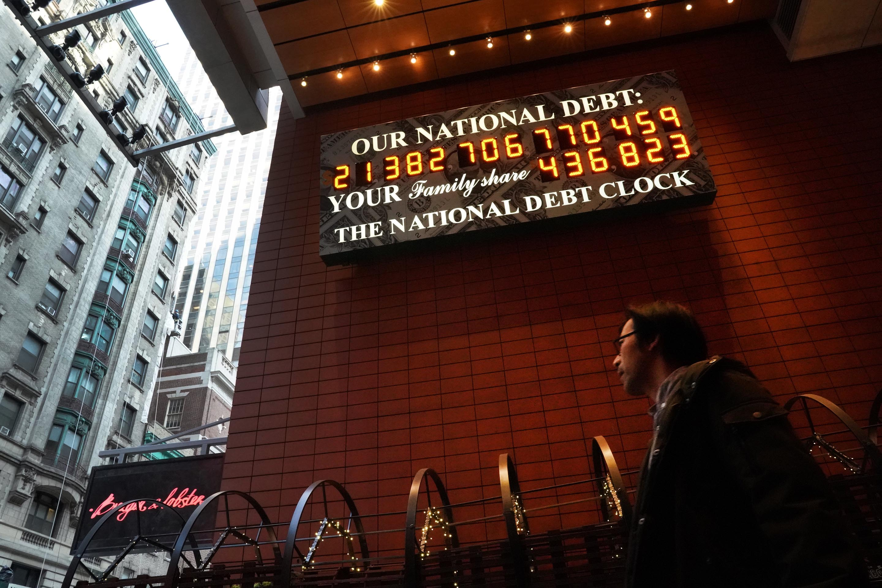 National Debt Clock Manhattan US Economy